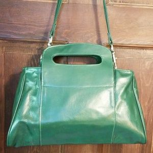VTG.KELLY GREEN BAG.MADE IN ITALY FOR SEARS
